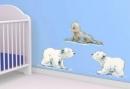 Der kleine Eisbär und seine Freunde (Wandtattoo ab 60x40cm)